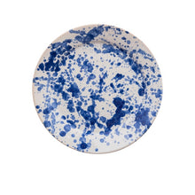 Tableware Blue Speckled Ceramic Large Plate Penny Morrison blue, ceramics, COLOUR_BLUE, crockery, dining, large, main course, paint, PATTERN_SPECKLED, place setting, plate, pottery, sets, speckled, splatter, spots, Tableware, white