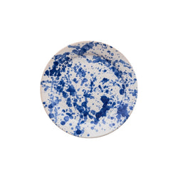 Penny-Morrison-Blue-Speckled-Ceramic-Medium-Plate-Unique-Hand-Painted-Glazed-paint-splatter-quirky-individual-starter-plate