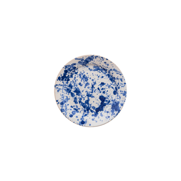 Penny-Morrison-Blue-Speckled-Ceramic-Small-Plate-Unique-Hand-Painted-Glazed-paint-splatter-quirky-individual-side-plate