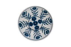 Tableware Blue Summer Flower Ceramic Shallow Bowl Penny Morrison blue, bowl, ceramics, COLOUR_BLUE, crockery, dessert, dining, fancy, flat, floral, flower, medium, motif, PATTERN_FLORAL, place setting, pottery, pretty, pudding, sets, Tableware