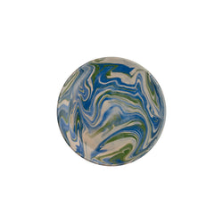 Tableware Blue and Green Marbled Small Plate Penny Morrison