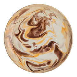 Penny-Morrison-Brown-And-White-Marbled-Ceramic-Large-Plate-Unique-Hand-Painted-Glazed-Patterned-Arty-inky-quirky-individual-main-course-plate