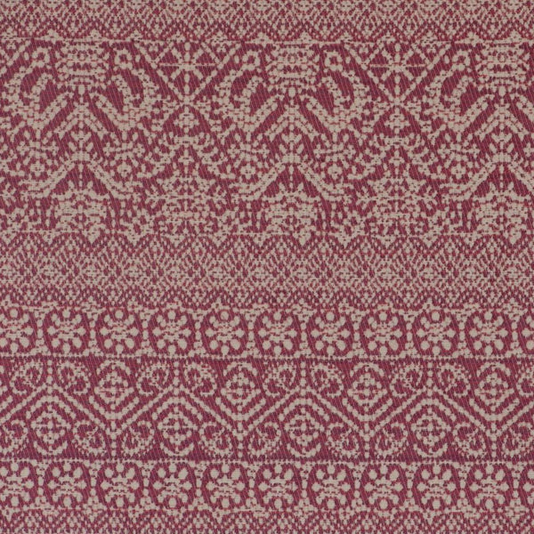 Fabrics Buriam Penny Morrison bohemian, COLOUR_BROWN, COLOUR_RED, DESIGNER_PENNY MORRISON, ethnic, HORIZONTAL, intricate, PATTERN_GEOMETRIC, small pattern