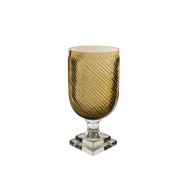 Penny-Morrison-Champagne-Killi-Cut-Tape-Glass-Hurricane-Lamp-Accessory-Candle-Holder-Vase-Dining Table-Vase-Brown-Light