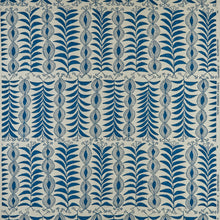 Fabrics Zanzibar Petrol Blue Penny Morrison COLOUR_BLUE, DESIGNER_PENNY MORRISON, ethnic, lines, PATTERN_ABSTRACT, PATTERN_FLORAL, PATTERN_STRIPES, QUIRKY, UNIQUE, VERTICAL