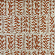 Fabrics Zanzibar Tobacco Penny Morrison COLOUR_BROWN, DESIGNER_PENNY MORRISON, ethnic, lines, PATTERN_ABSTRACT, PATTERN_FLORAL, PATTERN_STRIPES, QUIRKY, UNIQUE, VERTICAL