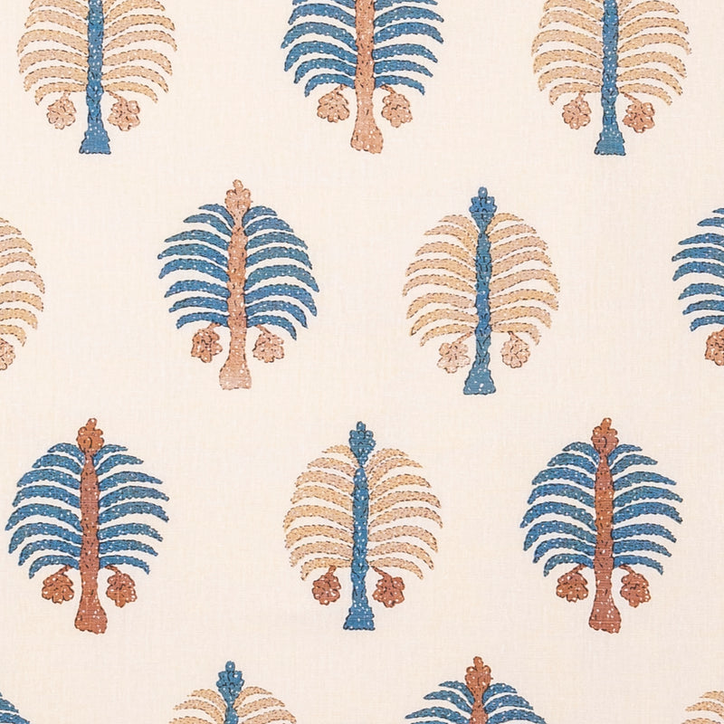 Penny-Morrison-Gobi-Blue-Quirky-Bold-Playful-Nature-Palm-Tree-Blue-Brown