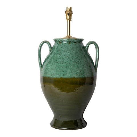 Penny-Morrison-Graduated-Green-Rounded-Urn-with-Handles-Ceramic-Lamp-Base-Quirky-Unique-Colourful-Hand-Painted-Bespoke-Artisanal
