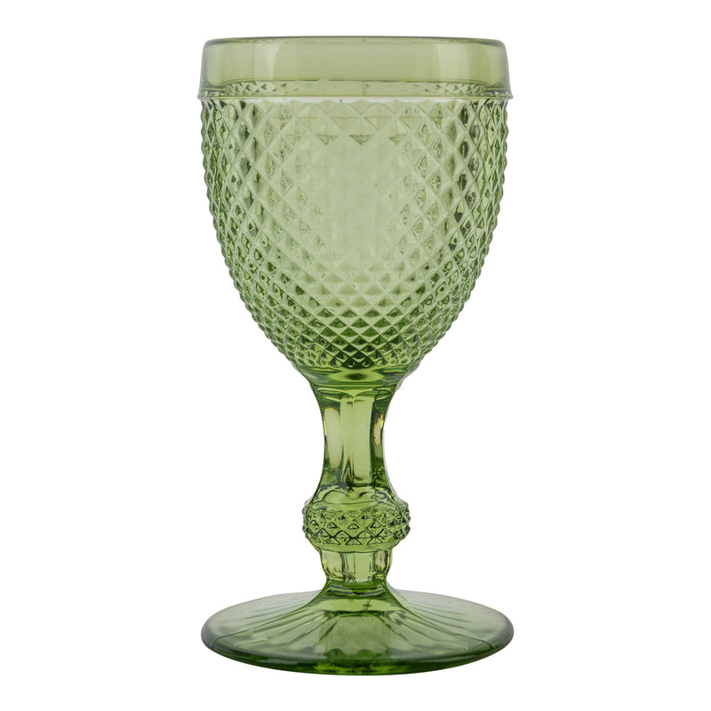 Penny-Morrison-Green-Chalice-Drinking-Glass-Diamond-Goblet-Elegant-Quirky-Unique-Individual-Wine-Table-Accessory-Tableware