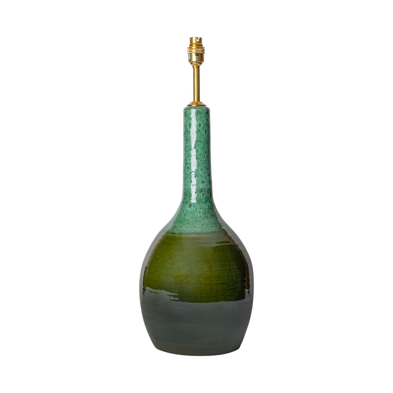 Lamps Graduated Green Tall Urn Ceramic Lamp Base Penny Morrison BASE STYLE_TALL URN, BOLD, CERAMIC, COLOUR_GREEN, DARK, EMERALD, GREEN, JADE, LAMP BASE, LAMPS, LIGHTING, SIMPLE, SLIM, STATEMENT, TALL, UNIQUE