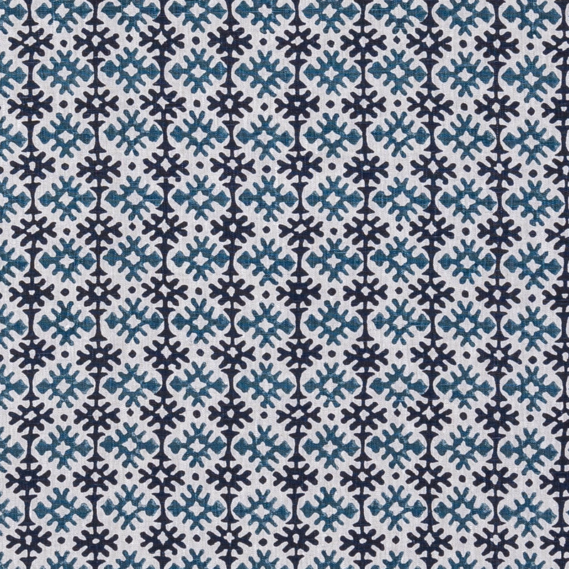 Fabrics Hemant Blue/Black Penny Morrison COLOUR_BLUE, DESIGNER_PENNY MORRISON, Diamond, DOODLE, GRID, LINES, PATTERN_ABSTRACT, repeated, small, TILE