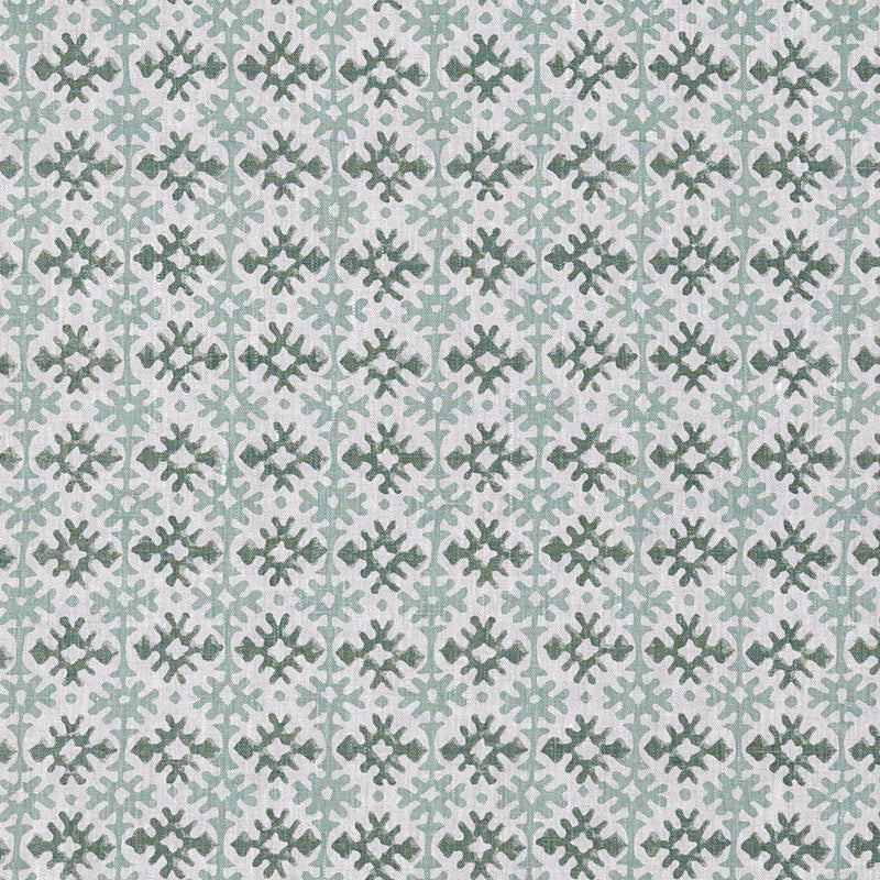 Fabrics Hemant Green Penny Morrison COLOUR_BLUE, COLOUR_GREEN, DESIGNER_PENNY MORRISON, Diamond, DOODLE, GRID, LINES, PATTERN_ABSTRACT, repeated, small, TILE