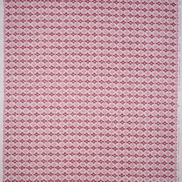 Fabrics Hemant Pink/Red Penny Morrison COLOUR_PINK, COLOUR_RED, DESIGNER_PENNY MORRISON, Diamond, DOODLE, GRID, LINES, PATTERN_ABSTRACT, repeated, small, TILE