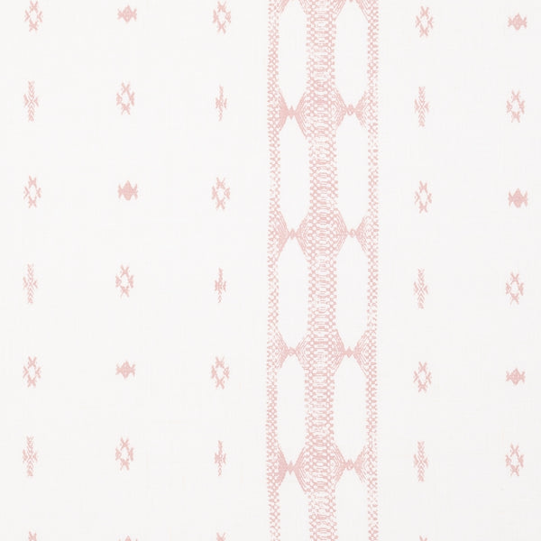 Fabrics Indira Stripe Pink Penny Morrison BLUSH, COLOUR_BLUE, COLOUR_PINK, DESIGNER_PENNY MORRISON, DIAMONDS, ETHNIC, MINIMAL, PASTEL, PATTERN_GEOMETRIC, PATTERN_STRIPES, repeated, RUSTIC, SIMPLE, VERTICAL