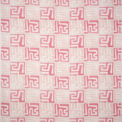 Fabrics Kenil Pink Penny Morrison AFRICAN, BOLD, COLOUR_PINK, DESIGNER_PENNY MORRISON, ethnic, MAZE, PALE, PASTEL, PATTERN_ABSTRACT, SQUARES, STATEMENT, TILES, UNIQUE