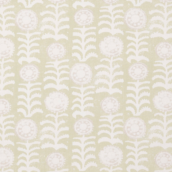 Fabrics Killi Green Penny Morrison COLOUR_GREEN, DESIGNER_PENNY MORRISON, Floral, LINES, NATURAL, PATTERN_ABSTRACT, PATTERN_FLORAL, PRINT, VERTICAL