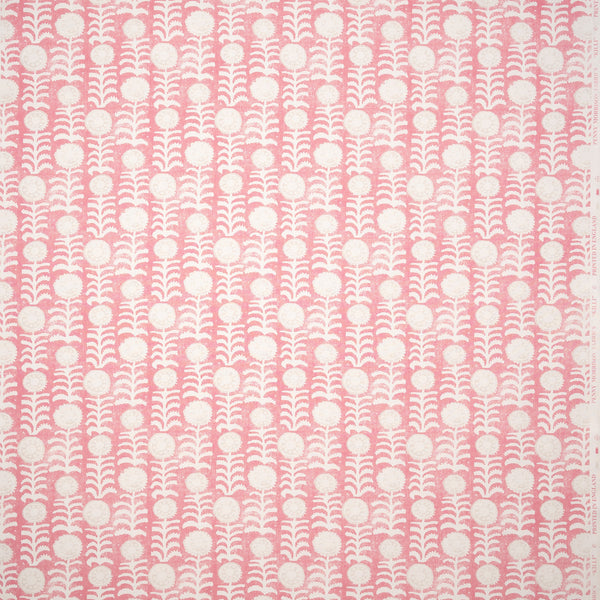 Fabrics Killi Pink Penny Morrison COLOUR_PINK, DESIGNER_PENNY MORRISON, Floral, LINES, NATURAL, PATTERN_ABSTRACT, PATTERN_FLORAL, PRINT, VERTICAL