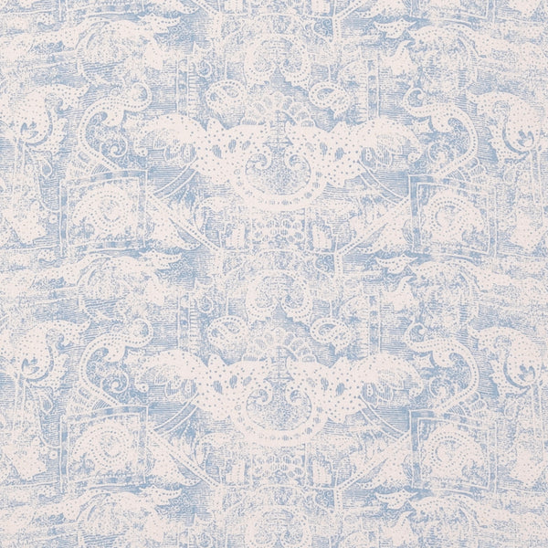 Fabrics Kilta Blue Penny Morrison COLOUR_BLUE, DESIGNER_SARAH VANRENEN, FADED, NATURAL, PATTERN_ABSTRACT, PATTERN_GEOMETRIC, PRINT, RUSTIC, VERTICAL, VINTAGE