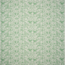 Fabrics Kilta Reverse Green Penny Morrison COLOUR_GREEN, DESIGNER_SARAH VANRENEN, FADED, GOLD, NATURAL, PATTERN_ABSTRACT, PATTERN_GEOMETRIC, PRINT, RUSTIC, SHELL, VERTICAL, VINTAGE