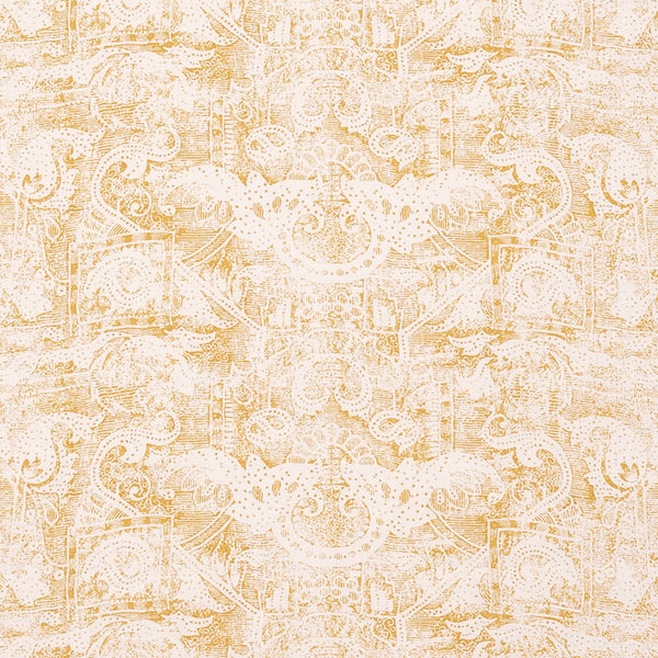 Fabrics Kilta Gold (Yellow) Penny Morrison COLOUR_YELLOW, DESIGNER_SARAH VANRENEN, FADED, GOLD, NATURAL, PATTERN_ABSTRACT, PATTERN_GEOMETRIC, PRINT, RUSTIC, VERTICAL, VINTAGE