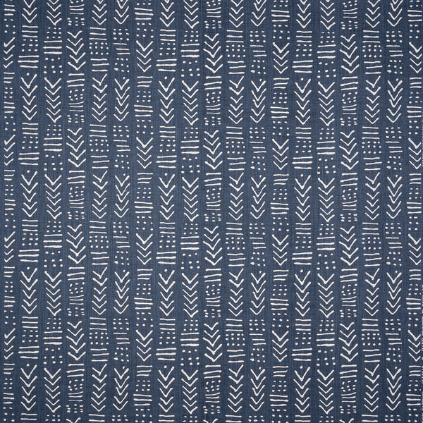 Fabrics Luma Indigo Penny Morrison ARROWS, COLOUR_BLUE, DARK BLUE, DESIGNER_PENNY MORRISON, GEOMETRIC, GREY, INDIGO, LINES, MINIMAL, PATTERN_ABSTRACT, PETROL, SHAPES, SIMPLE, VERTICAL