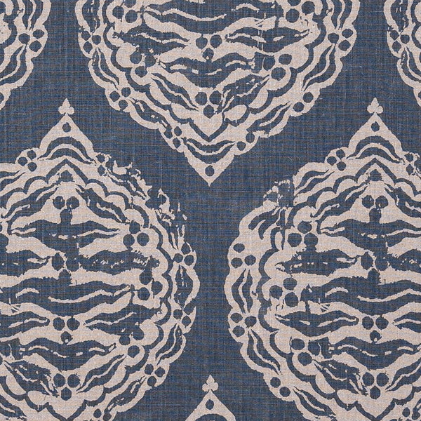 Fabrics Mander Dark Blue Penny Morrison BLOCK PRINT, bohemian, COLOUR_BLUE, DARK, DESIGNER_PENNY MORRISON, DIAMONDS, ETHNIC, INDIAN, PATTERN_ABSTRACT, repeated, ROUND