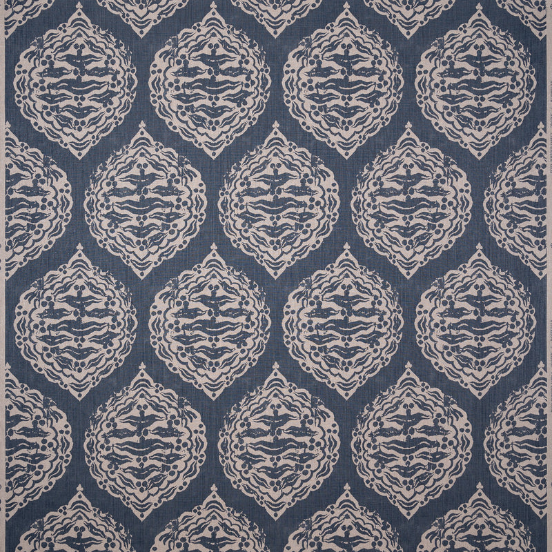 Penny-Morrison-Mander-Ethnic-Abstract-Diamond-Repeated-Vintage-Dark-Blue