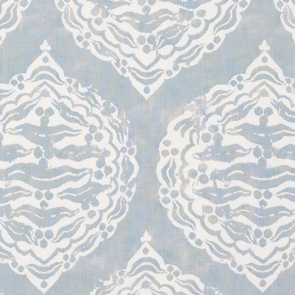 Fabrics Mander Duck Egg Penny Morrison BLOCK PRINT, bohemian, COLOUR_BLUE, DESIGNER_PENNY MORRISON, DIAMONDS, ETHNIC, INDIAN, LIGHT, PALE, PATTERN_ABSTRACT, repeated, ROUND