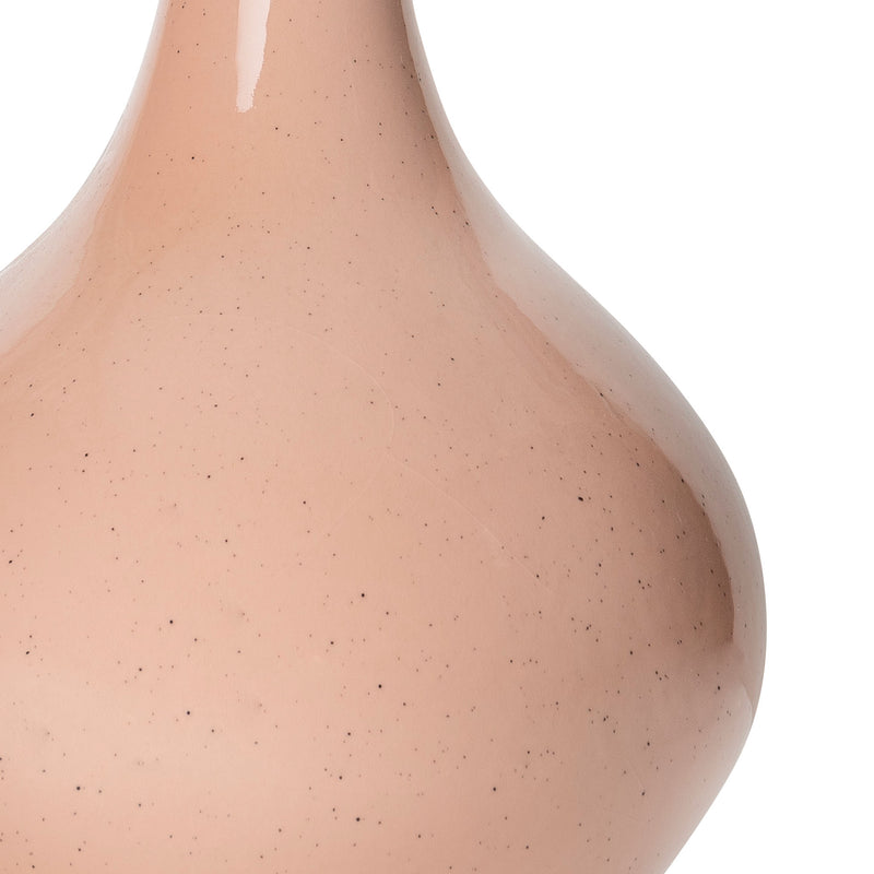 Lamps Pale Pink Teardrop Ceramic Lamp Base Penny Morrison BASE STYLE_TEARDROP, CERAMIC, COLOUR_PINK, CURVY, ELEGANT, LAMP BASE, LAMPS, LIGHTING, NEUTRAL, PINK, PLAIN, PRETTY, SIMPLE, STATEMENT, UNIQUE