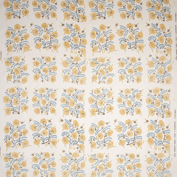 Fabrics Pasha Adam Linen Penny Morrison COLOUR_YELLOW, DESIGNER_PENNY MORRISON, DETAILED, FLOWER, garden, GRID, ILLUSTRATIVE, intricate, PATTERN_FLORAL, PRETTY, SQUARE, TILE