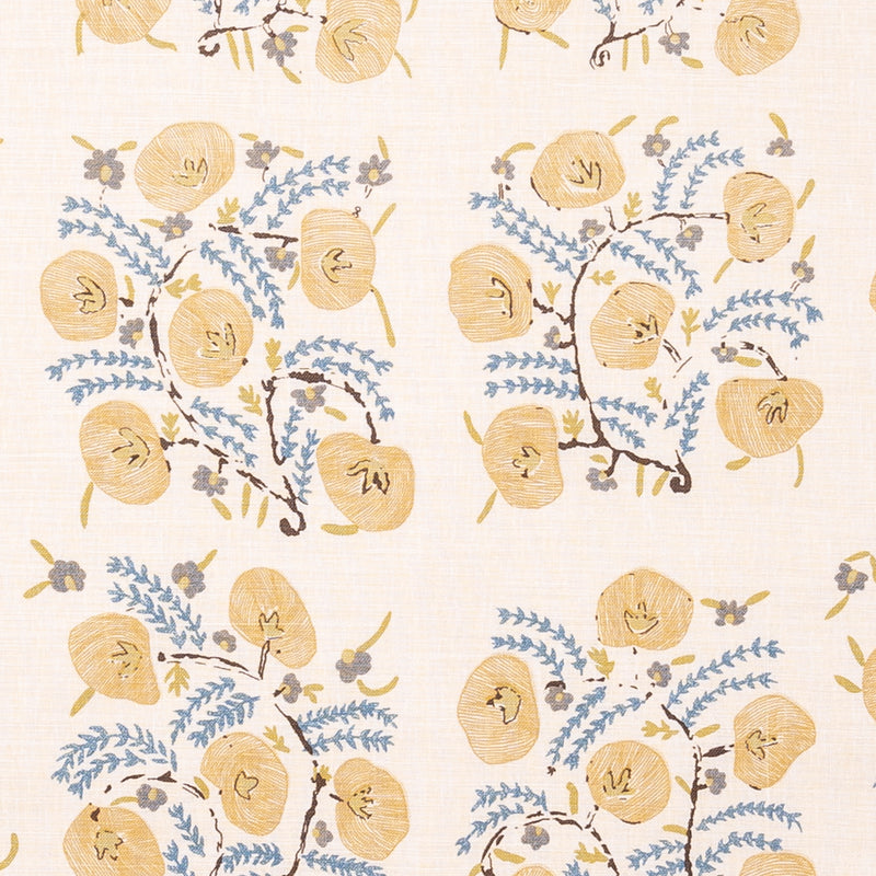 Fabrics Pasha Original Penny Morrison COLOUR_YELLOW, DESIGNER_PENNY MORRISON, DETAILED, FLOWER, garden, GRID, ILLUSTRATIVE, intricate, PATTERN_FLORAL, PRETTY, SQUARE, TILE