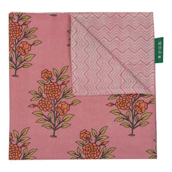 Penny-Morrison-Pink-Large-Flower-Reversible-Napkin-Floral-Pretty-Whimsical-Cute-Cloth-Table-accessory-patterned