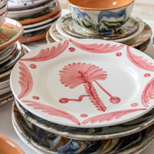 Tableware Pink Palm Tree Ceramic Large Plate Penny Morrison bestseller, blue, ceramics, COLOUR_PINK, crockery, dining, floral, large, main course, motif, palm tree, PATTERN_OTHER, place setting, plate, pottery, sets, Tableware