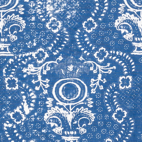 Fabrics Rama Blue Penny Morrison bohemian, COLOUR_BLUE, DESIGNER_PENNY MORRISON, ETHNIC, FADED, INDIAN, ORNATE, PATTERN_ABSTRACT, RUSTIC, VINTAGE, WORN