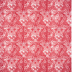 Fabrics Rama Red Penny Morrison bohemian, BOLD, BRIGHT, COLOUR_RED, DESIGNER_PENNY MORRISON, ETHNIC, FADED, INDIAN, ORNATE, PATTERN_ABSTRACT, RUSTIC, VIBRANT, VINTAGE, WORN