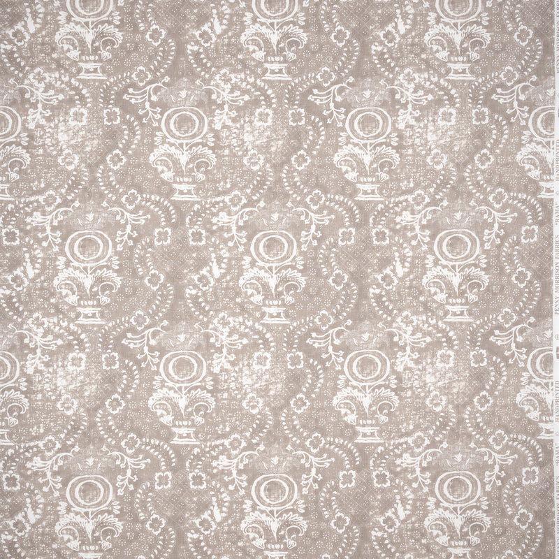 Fabrics Rama Stone Penny Morrison bohemian, COLOUR_BROWN, DESIGNER_PENNY MORRISON, ETHNIC, FADED, GREY, INDIAN, NEUTRAL, ORNATE, PATTERN_ABSTRACT, RUSTIC, STONE, VINTAGE, WORN