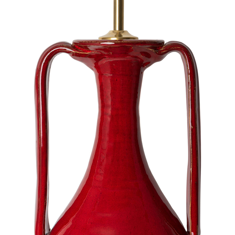 Penny-Morrison-Red-Tall-Urn-with-Handles-Ceramic-Lamp-Base-Quirky-Unique-Colourful-Hand-Painted-Bespoke-Artisanal