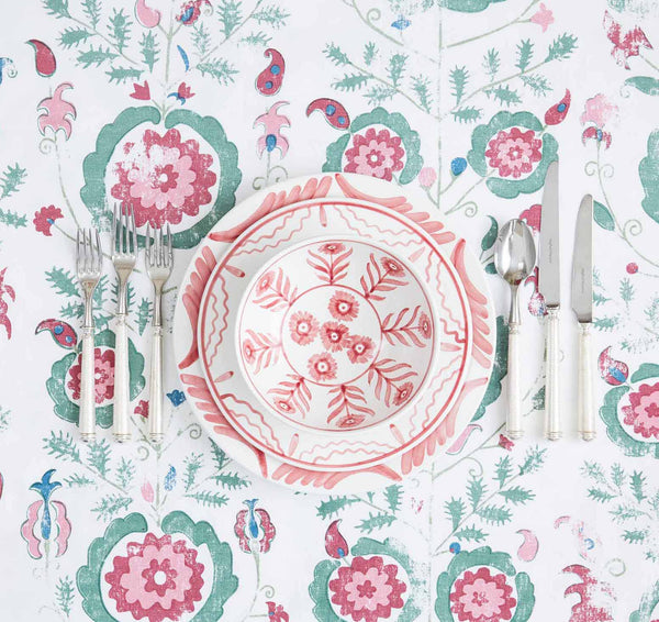 Penny-Morrison-Simla-Pink-Blue-Tablecloth-Unique-Illustrated-Pattern