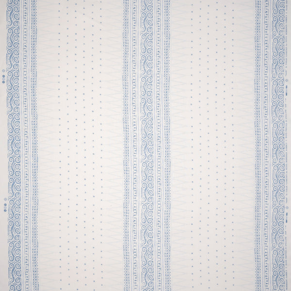 Fabrics Sunda Blue Penny Morrison AZTEC, COLOUR_BLUE, DESIGNER_SARAH VANRENEN, detail, LINES, MESOAMERICAN, PANELS, PATTERN_GEOMETRIC, PATTERN_STRIPES, SIMPLE, STRIPES