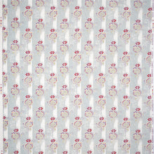 Fabrics Sukriti Penny Morrison COLOUR_BLUE, DESIGNER_PENNY MORRISON, flower, FLOWERS, PASTEL, PASTELS, PATTERN_FLORAL, PATTERN_STRIPES, PRETTY, SIMPLE, VERTICAL