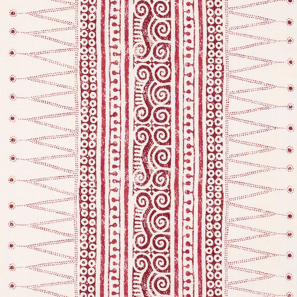 Fabrics Sunda Red Penny Morrison AZTEC, COLOUR_RED, DESIGNER_SARAH VANRENEN, detail, LINES, MESOAMERICAN, NEUTRAL, PANELS, PATTERN_GEOMETRIC, PATTERN_STRIPES, SIMPLE, STRIPES