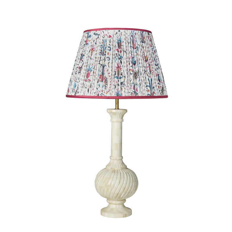 Mughal Lampshade with Pink Trim