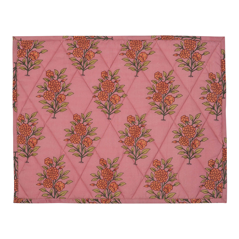 Penny-Morrison-Pink-Large-Flower-Reversible-Table-Mat-Floral-Pretty-Whimsical-Cute-Cloth-Table-accessory-patterned-quilted