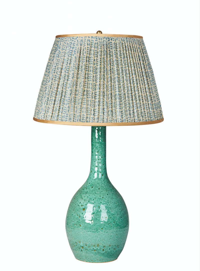 Lamps Aqua Tall Urn Ceramic Lamp Base Penny Morrison AQUA, BASE STYLE_TALL URN, COLOUR_GREEN, LAMP BASE, LIGHTING