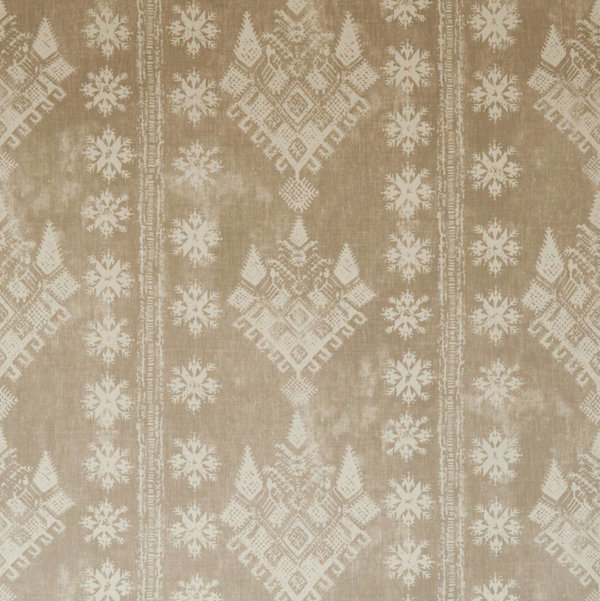 Fabrics Athena Taupe Penny Morrison COLOUR_BROWN, DESIGNER_PENNY MORRISON, DIAMONDS, PATTERN_ABSTRACT, PATTERN_GEOMETRIC, PATTERN_STRIPES, RUSTIC, VINTAGE, WORN