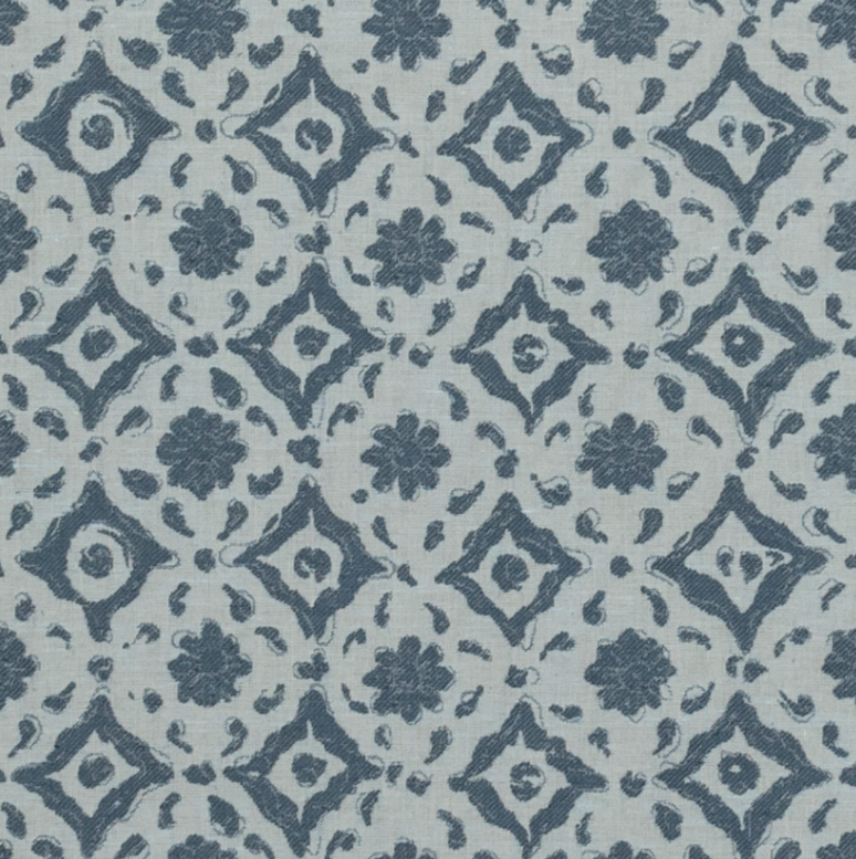 Fabrics Floral Tile Blue Penny Morrison CIRCLES, COLOUR_BLUE, COLOUR_PINK, DESIGNER_PENNY MORRISON, DOTS, PATTERN_ABSTRACT, PATTERN_DOTS, PATTERN_FLORAL, PATTERN_GEOMETRIC, repeated, TILE