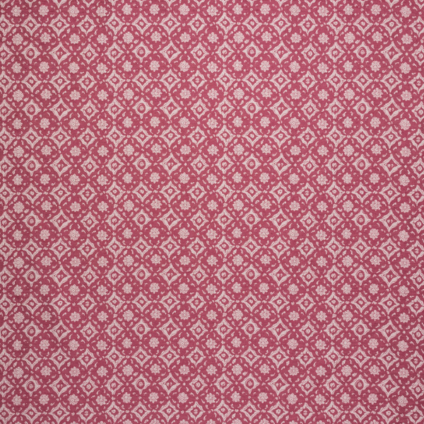 Fabrics Floral Tile Pink Penny Morrison CIRCLES, COLOUR_PINK, DESIGNER_PENNY MORRISON, DOTS, PATTERN_ABSTRACT, PATTERN_DOTS, PATTERN_FLORAL, PATTERN_GEOMETRIC, repeated, TILE