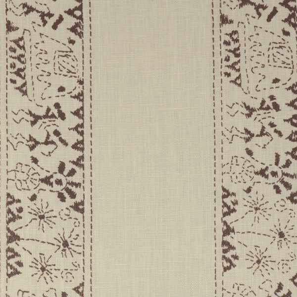 Fabrics Lucknow Stripe Brown Penny Morrison COLOUR_BROWN, DESIGNER_PENNY MORRISON, detail, ETHNIC, intricate, PATTERN_STRIPES, VERTICAL