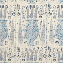 Fabrics Vasari China Blue Penny Morrison ANTIQUE, CHINA BLUE, COLOUR_BLUE, DESIGNER_PENNY MORRISON, FADED, MEDIEVAL, PATTERN_ABSTRACT, PATTERN_FLORAL, SUBTLE, TAPESTRY, VINTAGE