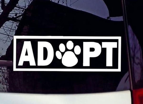 ADOPT Vehicle Decal - My Naked Dog